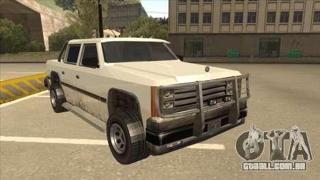 Declasse Rancher FXT para GTA San Andreas esquerda vista