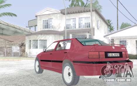 Volkswagen Vento para GTA San Andreas traseira esquerda vista