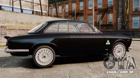 Alfa Romeo Giulia 1965 Sprint GTA Stradale para GTA 4 esquerda vista