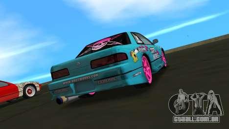 Nissan Silvia S13 Drift Works para GTA Vice City deixou vista