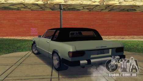 Feltzer C107 coupe para GTA San Andreas traseira esquerda vista