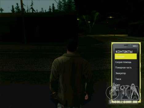 Telefone interativo para GTA San Andreas segunda tela