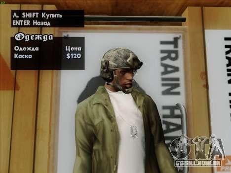 Capacete de Call of Duty MW3 para GTA San Andreas quinto tela