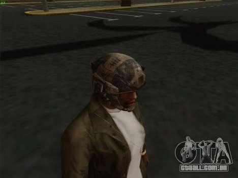 Capacete de Call of Duty MW3 para GTA San Andreas por diante tela