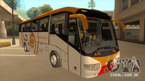 Higer KLQ6129QE - Yellow Bus Line A-001 para GTA San Andreas esquerda vista