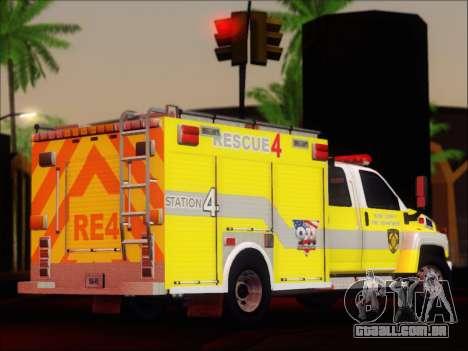GMC C4500 Topkick BCFD Rescue 4 para GTA San Andreas vista direita
