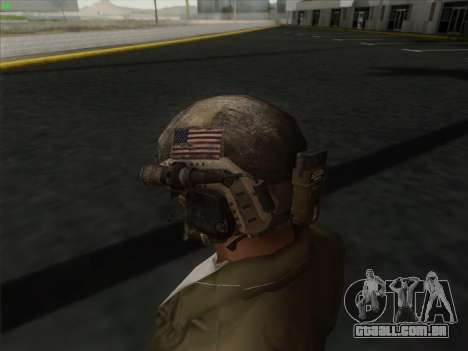Capacete de Call of Duty MW3 para GTA San Andreas terceira tela