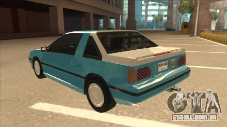 Nissan EXA L.A. Version para GTA San Andreas vista superior