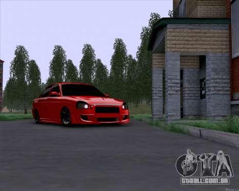 Lada Priora para GTA San Andreas esquerda vista