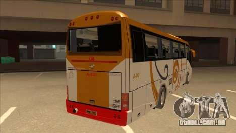 Higer KLQ6129QE - Yellow Bus Line A-001 para GTA San Andreas vista direita