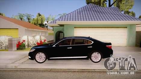Lexus LS 600h L para GTA San Andreas esquerda vista