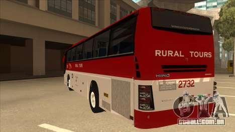 Rural Tours 2732 para GTA San Andreas vista traseira