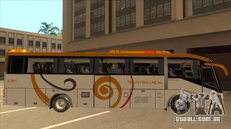 Higer KLQ6129QE - Yellow Bus Line A-001 para GTA San Andreas traseira esquerda vista