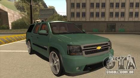 Chevrolet Tahoe Sound Car The Adiccion para GTA San Andreas esquerda vista
