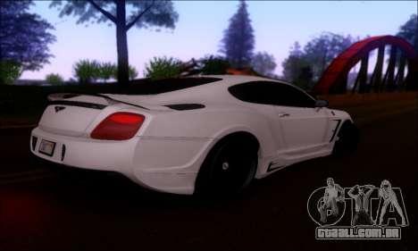 Bentley Continental GT para GTA San Andreas vista traseira