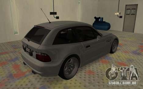 BMW Z3 M Power 2002 para GTA San Andreas vista direita