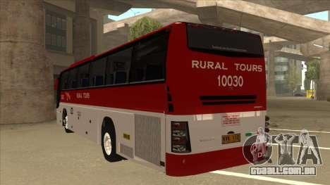 Rural Tours 10030 para GTA San Andreas vista traseira