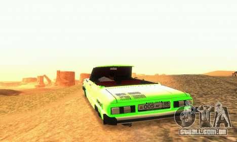 ZAZ 968 Cabriolet Tuning para GTA San Andreas vista interior