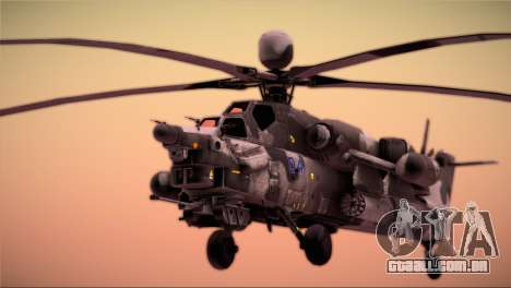 Mi-28N Havoc para GTA San Andreas vista direita
