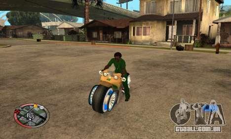 Tadpole Motorcycle para GTA San Andreas vista direita