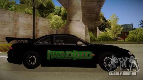 Nissan s14 200sx [WAD]HD para GTA San Andreas traseira esquerda vista