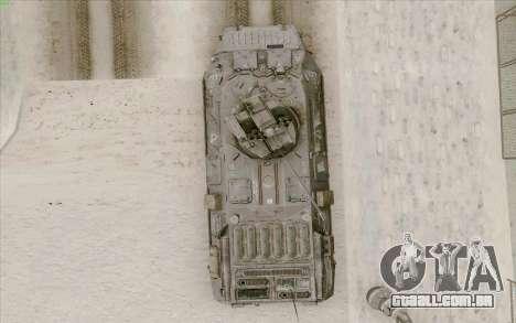 BTR-80 para GTA San Andreas vista superior