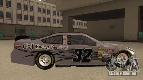 Ford Fusion NASCAR No. 32 C&J Energy services para GTA San Andreas traseira esquerda vista