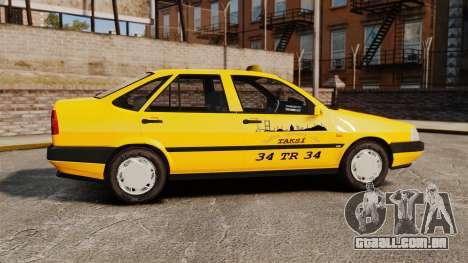 Fiat Tempra SX.A Turkish Taxi para GTA 4 esquerda vista