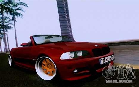 BMW M3 Cabrio para GTA San Andreas vista direita