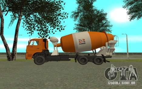 KAMAZ 6520 cimento para GTA San Andreas esquerda vista