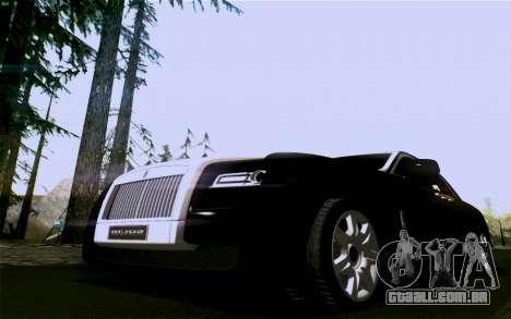 Rolls-Royce Ghost para GTA San Andreas traseira esquerda vista