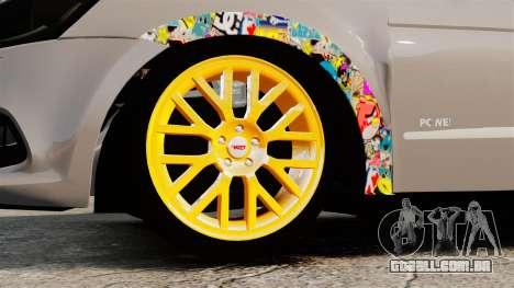 Volkswagen Gol G6 2013 Turbo Socado para GTA 4 vista de volta