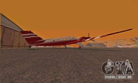 Rustler GTA V para GTA San Andreas traseira esquerda vista