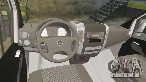 Mercedes-Benz Sprinter Croatian Police [ELS] para GTA 4 vista de volta