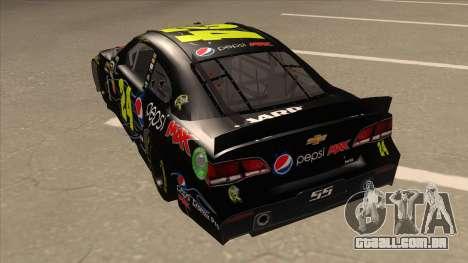 Chevrolet SS NASCAR No. 24 Pepsi Max AARP para GTA San Andreas vista traseira