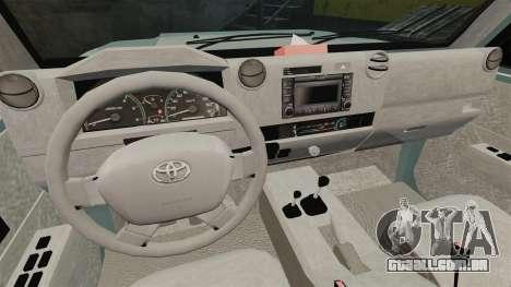 Toyota Land Cruiser 76 Wagon GXL 2010 para GTA 4 vista de volta