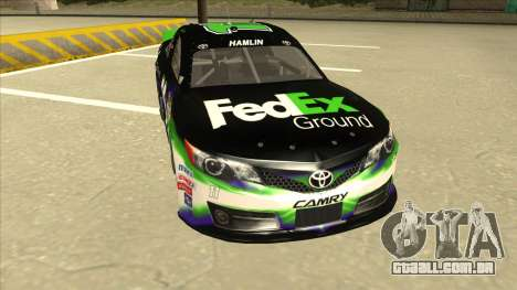 Toyota Camry NASCAR No. 11 FedEx Ground para GTA San Andreas esquerda vista