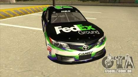 Toyota Camry NASCAR No. 11 FedEx Ground para GTA San Andreas esquerda vista