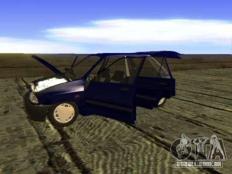Kia Pride Hatchback para GTA San Andreas vista interior