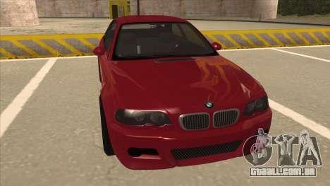 BMW M3 Tuned para GTA San Andreas esquerda vista