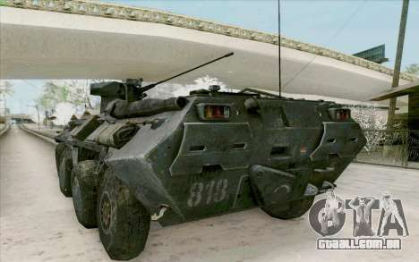 BTR-80 para GTA San Andreas vista traseira