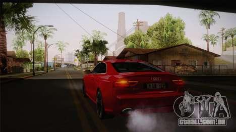 Audi RS5 2012 para vista lateral GTA San Andreas