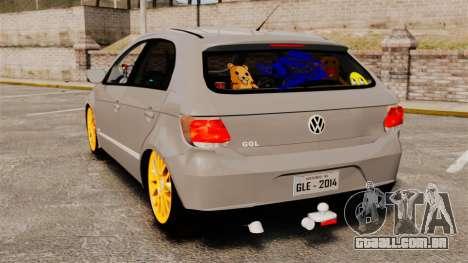 Volkswagen Gol G6 2013 Turbo Socado para GTA 4 traseira esquerda vista