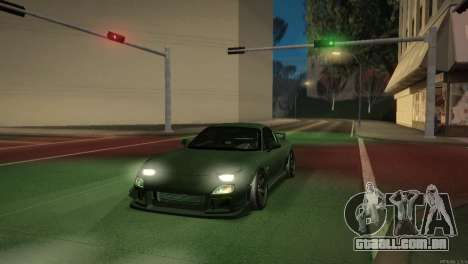 Mazda RX-7 STANCENATION para GTA San Andreas interior