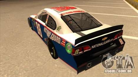 Chevrolet SS NASCAR No. 88 National Guard para GTA San Andreas vista traseira