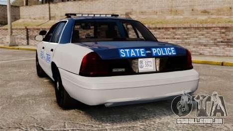 Ford Crown Victoria Virginia State Police [ELS] para GTA 4 traseira esquerda vista