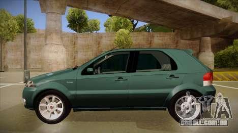 FIAT Palio ELX 2010 para GTA San Andreas traseira esquerda vista