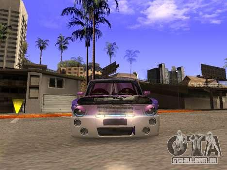 Vaz 2102 divertido DRFT para GTA San Andreas vista traseira