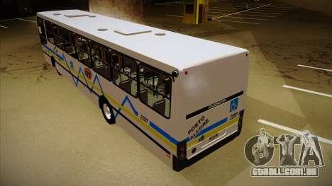 Busscar Urbanuss Ecoss MB OF 1722 M Porto Alegre para GTA San Andreas vista traseira