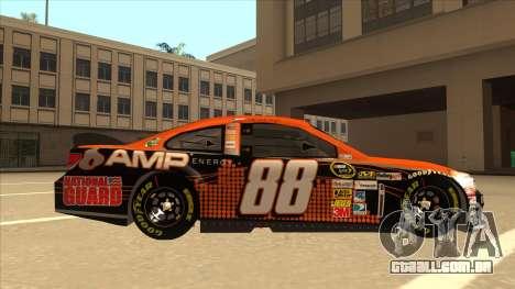 Chevrolet SS NASCAR No. 88 Amp Energy para GTA San Andreas traseira esquerda vista